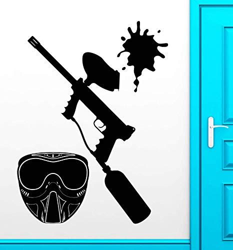 wandaufkleber PVC abnehmbare wasserdichte tapete Liebt Paintball Erholung Zimmer Jugendliche Vinyl Aufkleber Wandaufkleber Deco Kunstwand 56x73 cm