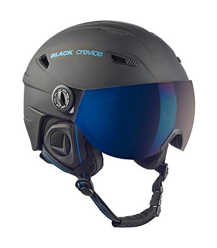 Black Crevice Erwachsene Skihelm Silvretta, matt schwarz/blau, L = 59/60 cm