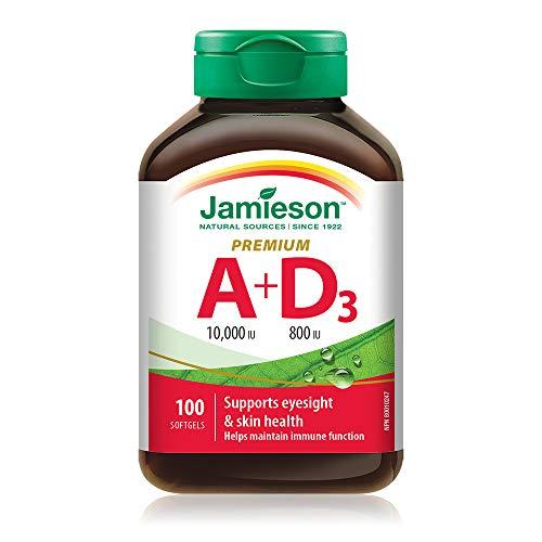 Vitamin A 10,000 IU + Vitamin D 800 IU - Premium Softgels