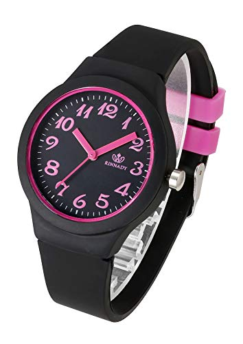 Top Plaza Womens Black Silicone Analog Quartz Wrist Watches Fashion Casual Colorful Sport Rubber Jelly Watch with Classic Arabic Numerals