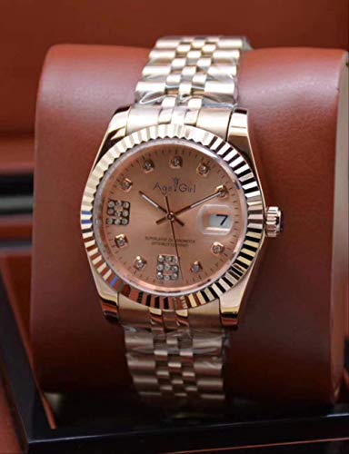 LKYH Klassische Armbanduhr Herren Automatik Mechanisch Datejust Edelstahl Saphir Roségold Schwarz Diamanten Muschel Grau Uhren7