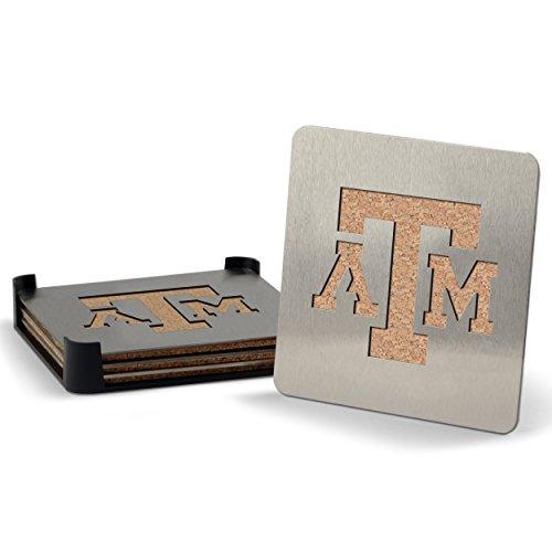 Conjunto de 4 porta-copos NCAA Texas A&M Aggies Boaster de aço inoxidável