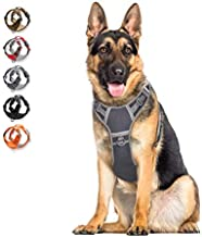 Dog Harness No Pull Reflective, WALKTOFINE Comfortable Harness with Handle,Fully Adjustable Pet Leash Vest for Small Medium Large Dog Breed Car Seat Harness Grey XL