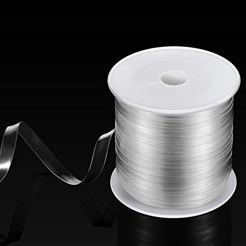 BBTO Clear Elastic Strap Lightweight Elastic Clear Bra Strap for Cloth Sewing Project (33 Yards x 0.06 Inch)