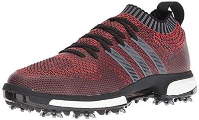 adidas Men's Tour360 Knit Golf Shoe, red/black/grey, 12 M US