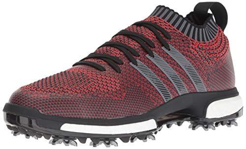 adidas Men's Tour360 Knit Golf Shoe, red/Black/Grey, 7 M US