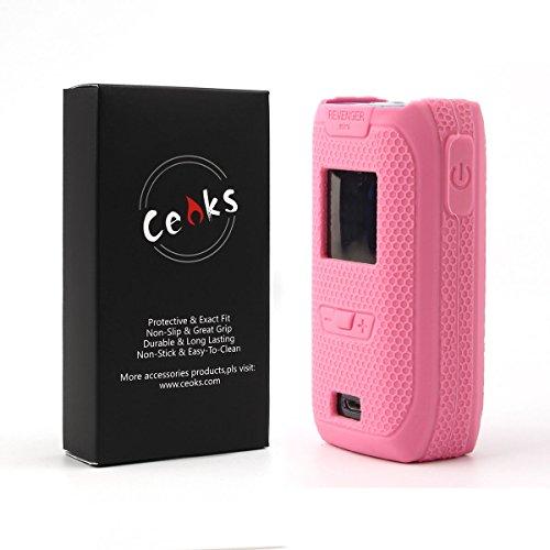 CEOKS for Vaporesso Revenger Mini Silicone Case, Protective Silicone Case Skin Rubber Cover for Vaporesso Revenger Mini 85w Mod Box Rubber case wrap Shield, Anti-Slip & Durable (Pink)