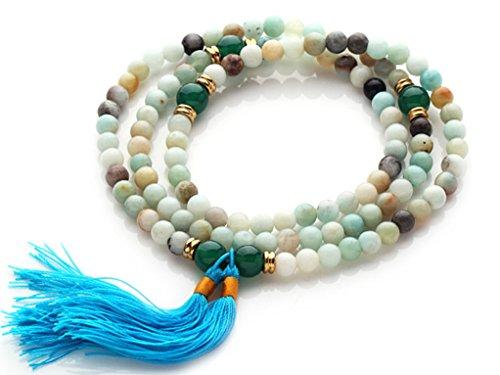TreasureBay Stunning Mala Bracelet, Necklace all in one (Amazon stone)