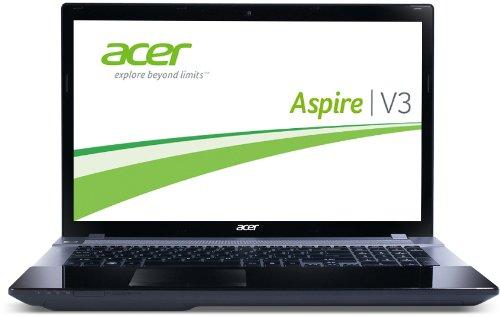 Acer Aspire V3-771-33124G50Makk 43,9 cm (17,3 Zoll) Notebook (Intel Core i3 3120M, 2,5GHz, 4GB RAM, 500GB HDD, Intel HD, DVD, Win 8) schwarz