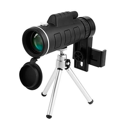 Telescopio monocular, 40X60 Monocular HD de alta potencia con actualización Monocular impermeable con prisma FMC BAK4 y brújula y...