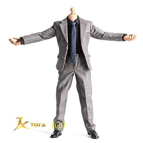 ZSMD 1 / 6JXTOYS-030 donkergrijs pak voor middelgrote full-body pakken HT VERYCOOL TTL Hottoy Phicen