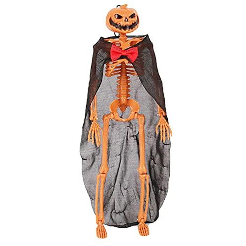 Rainao Skelett Halloween Deko Hängend Anatomie Lebensgroß Bewegliches Skelet Gruseliges Halloween Heimdekoration Halloween-Party-Gastgeschenk