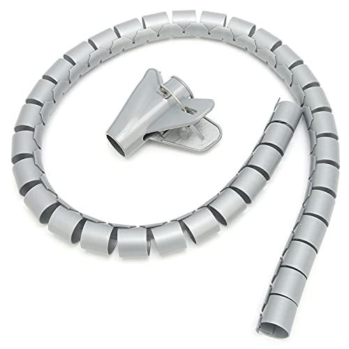 Tubo de gestión de cables, material PE Organizador de funda de cable...
