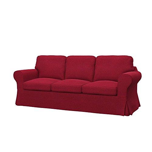 Soferia Funda de Repuesto para IKEA EKTORP sofá de 3 plazas, Tela Classic Red, Roja
