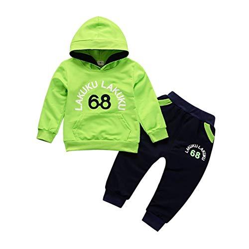 Gyratedream Baby Kleidung Set Junge Bekleidungssets Mädchen Trainingsanzüge Hoodie T-Shirt Langarmshirts Sweatshirt + Hose Sporthosen 2Pcs Outfits für 0-4 Jahre