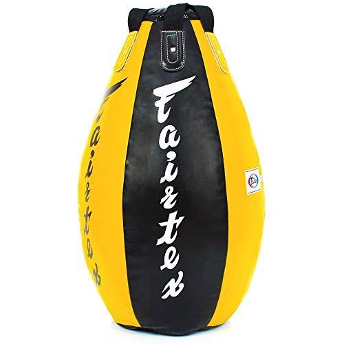 Fairtex Boxsack, Super Tear Drop HB15, ungefüllt, schw-gelb
