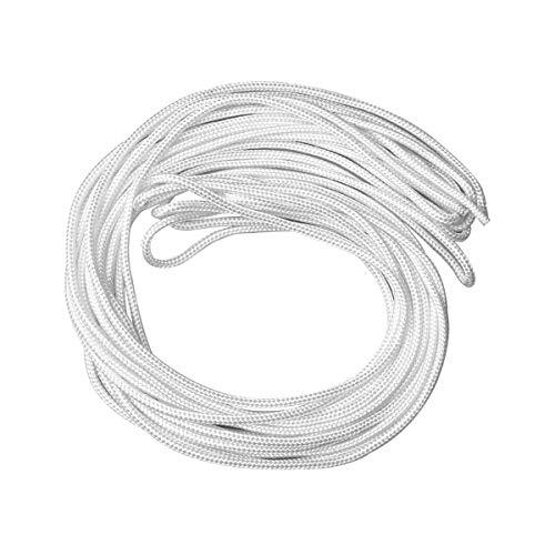 Draht zum Aufhängen von Bildern, 20 m x 4 mm, Nylon, Weiß
