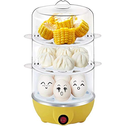Two Steamed Oven Microwave Egg Mold for Kitchen Leobtain Steamed Egg Box Microwave Egg Tray