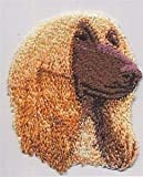 VirVenture 2 1/4' x 2 5/8' Afghan Hound Dog Breed Portrait Embroidery Applique Patch Great for Hats, Backpacks, and Jackets.