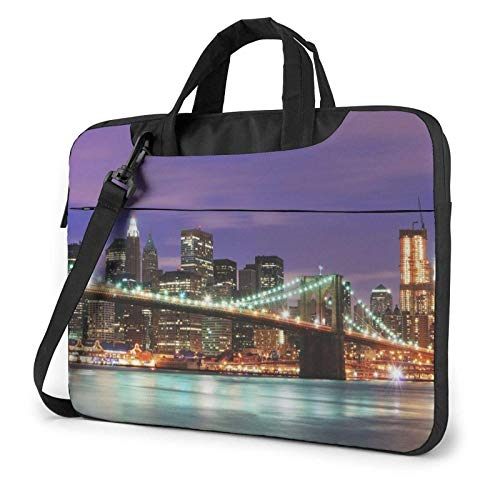 New York Night Laptop Bag Messenger Bag Briefcase Satchel Shoulder Crossbody Sling Working Bag