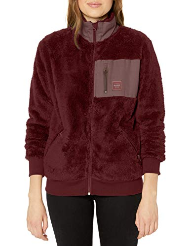 BILLABONG Damen Passport Sherpa Fleece Jacket Sweatshirt, Vintage Pflaume, Medium