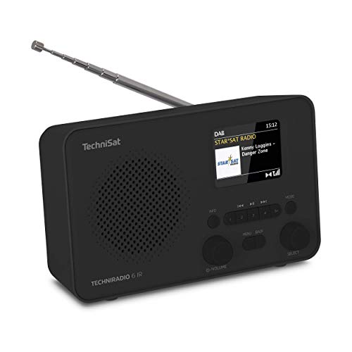 TechniSat TECHNIRADIO 6 IR – portables Internetradio (DAB+, UKW, WLAN, Bluetooth, Farbdisplay, Wecker, App-Steuerung, Favoritenspeicher, 3 Watt RMS) schwarz