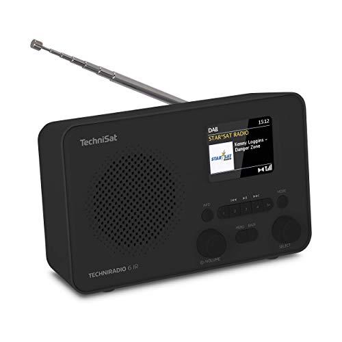 TechniSat TECHNIRADIO 6 IR – Radio Internet portatile (DAB+, UKW, WLAN, Bluetooth, display a colori, sveglia, controllo app, memoria preferita, 3 Watt RMS), nero