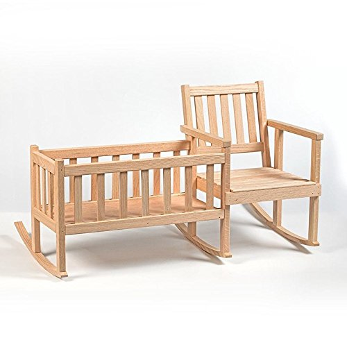 Lehman's Handcrafted Eli & Mattie Amish-Made Rocker and Cradle for Children and 18' Dolls