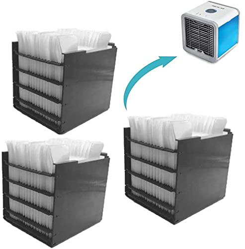 Arctic Air Cooler Filter, 3Pcs Replacement Filter Contains 30 Paper Layers for Mini Air Cooler Fan and Mini Mobile Air Conditioners – The Original from the TV, für alle Arctic Air Ultra Conditioner