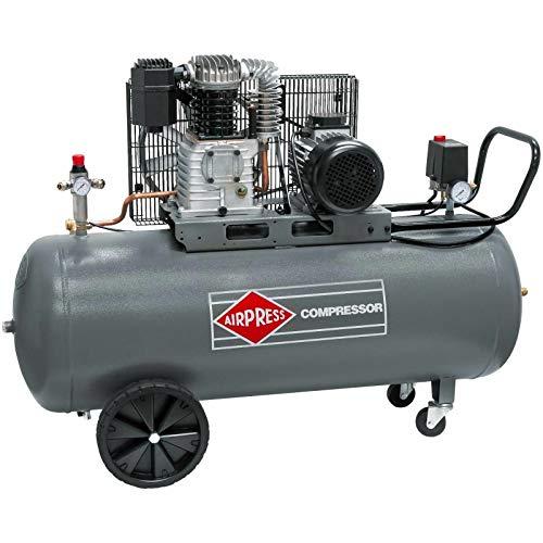 Airpress HK 425-150 Compresor de aire comprimido (2,2 kW, 10 bar, 150 l, 400 V), gran compresor de pistón