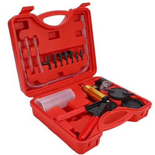 Kit pompa per vuoto, set tester per spurgo freni Controllo del vuoto Comodo da usare Doppio manometro Impostazioni e funzioni di test per fabbrica per uso commerciale