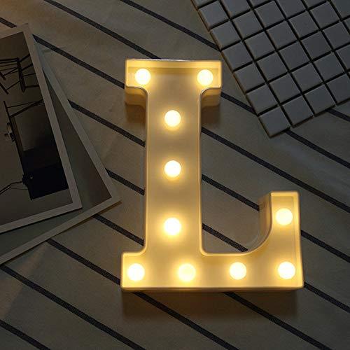 XVZ Kreatives leuchtendes alphanumerisches Nachtlicht 37 Englisches batteriebetriebenes Nachtlicht für Hochzeitsgeburtstagsfeier, romantische Hochzeitsfeierdekoration