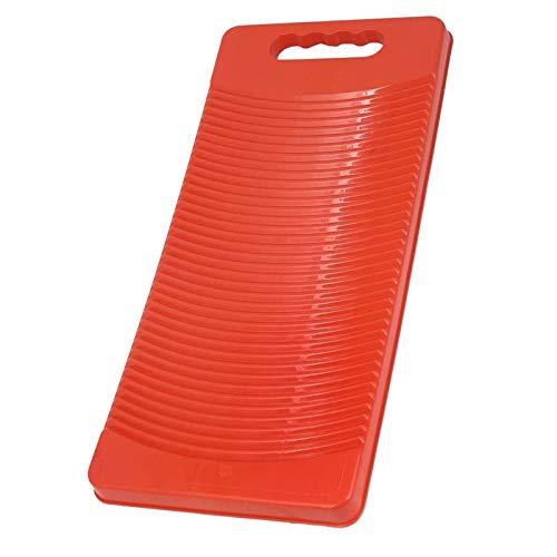 GAKIN Tablero plástico rectangular de la ropa del lavado del tablero rojo 50cm largo