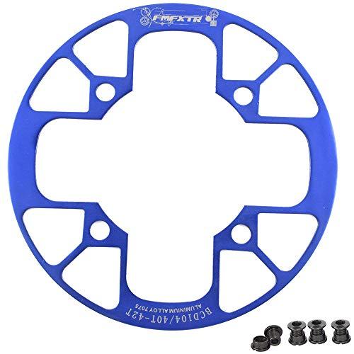UPANBIKE Fahrrad Kettenblatt Schutz für Mountainbikes 104 BCD Aluminiumlegierung Kettenblattschutz für (32~34T,Blau)