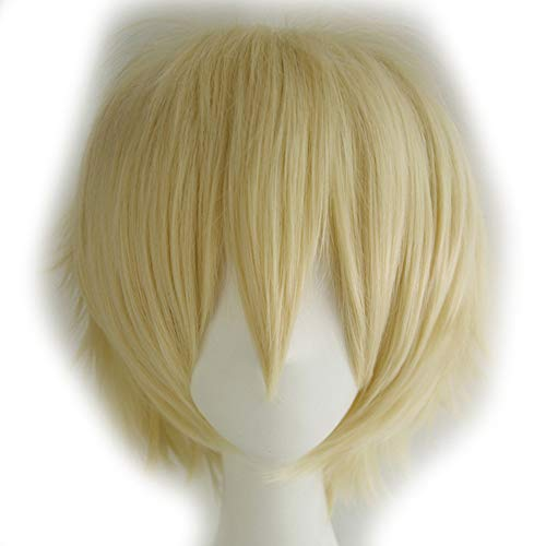 Max Beauty Unisex Anime Short Cosplay Short Wigs With Bangs Heat Resistant Hair for Party and Halloween for Gift + Free Cap