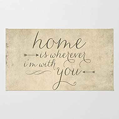 Poppylife Home is Wherever I'm With You Rug Home Indoor Entrance Doormat 20  x 32