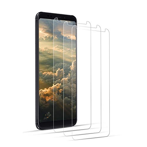 DOSNTO Protector Pantalla Xiaomi Redmi 5 Plus Cristal Templado [Caso Amistoso][De Punta a Punta][Sin Burbujas][ Anti-Scratch][Sensible al Tacto][Ultra HD]