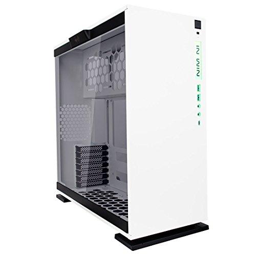 In Win 303C Case PC Desktop Middle Tower da Gaming - Usb 3.0/3.1 - Logo RGB - Pannello Laterale in Vetro Temperato - Bianco