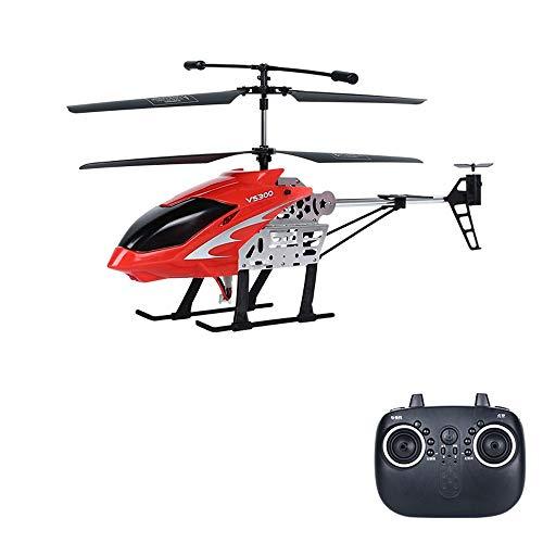DBXMFZW Helicóptero de Control Remoto de Velocidad Ajustable 2.4G Wireless RC Airplane Toy RC Aircraft con giroscopio Incorporado USB Cargando RC Plane Regalos para Principiantes (Color : Rojo)