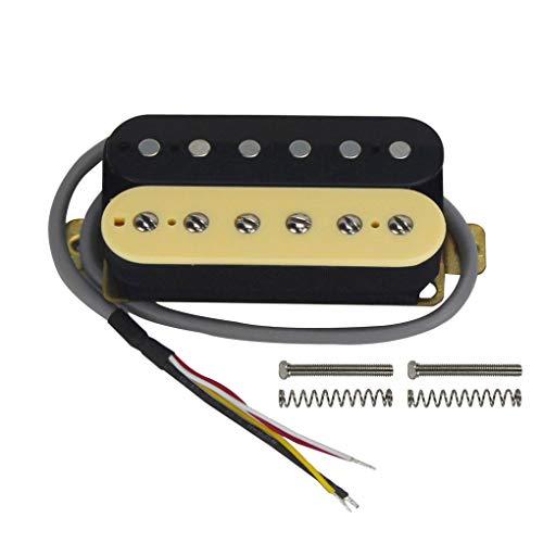 FLEOR Keramik Magnet Double Coil Humbucker Gitarren Pickup für E-Gitarre Ersatz Neck zebra
