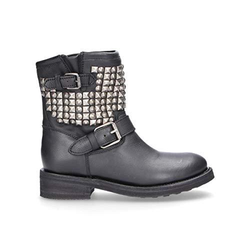 Ash Luxury Fashion Femme TENNESSE01 Noir Cuir Bottines | Automne-Hiver 19