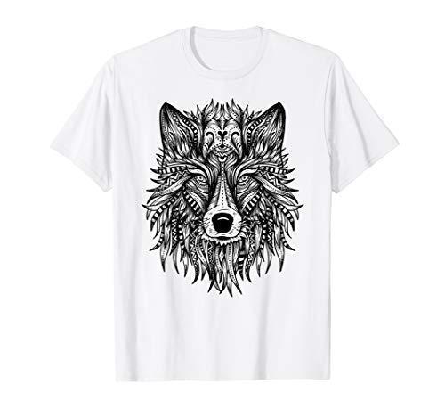 Wolf Mandala Indianer Spirit.