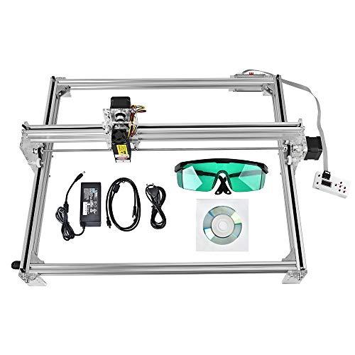 ETE ETMATE 50x40 cm CNC Laser Graviermaschine Kit, DIY Desktop Drucker Logo Bild Kennzeichnung Drucker, 12 V USB Holzschnitzerei Gravur Schneidemaschine (10W)