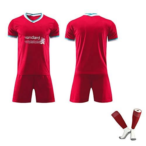 Hombres Fútbol Uniforme De Inglaterra con El Número 4 Mane Nº 10 Virgilio 20-21 Inicio Temporada Partido De Fútbol Traje Puede Ser Personalizado Número del Jugador red-customize-18