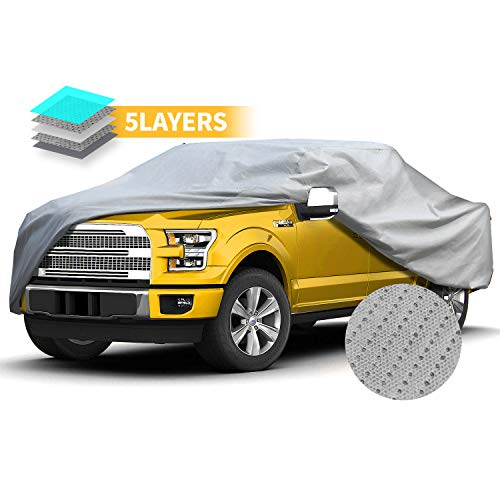 Truck Cover Pick Up Long Bed Full Size Cover Windproof Waterproof All Weather for Outdoor Extended Cab Truck Cover UV Protection, Universal Fit Car Covers for Truck Covers 248'