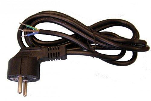 Geräte- Anschlussleitung 3x0,75mm², schwarz, 1,5m einseitig mit Winkelstecker