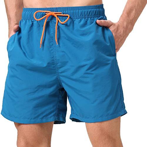 coskefy Badeshorts für Männer Jungen Badehose für Herren Schwimmhose Schnelltrocknend Kurz Vielfarbig Beachshorts Boardshorts Strand Shorts Sporthose mit Mesh-Futter und Verstellbarem Tunnelzug