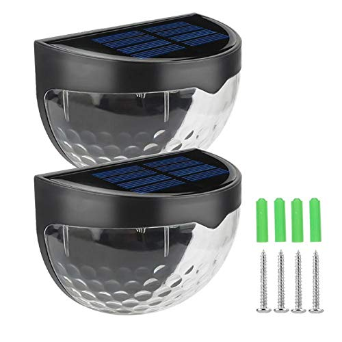 Luz de valla solar,se ilumina automáticamente en la oscuridad y se apaga automáticamente al amanecer, paneles solares de silicio policristalino, adecuado para pasillos de ja