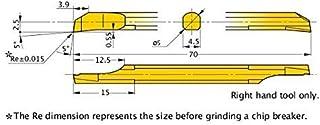 BB-110600X Micro 100 0.600 Maximum Bore Depth 0.028 Projection 0.003 Tool Radius 0.110 Minimum Bore Diameter AlTiN Coated 1-1//2 Overall Length Right Hand Cutting Radius Boring Tool 1//8 Shank Diameter Solid Carbide Tool