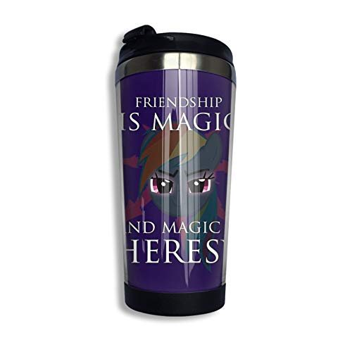 Friendship Is Magic And Magic Is Heresy! Travel Mug Coffee Cup Stainless Steel Vacuum Insulated Tumbler 13.5 Oz